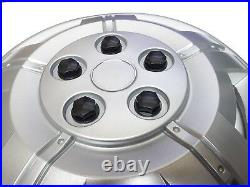 15 To Fit Fiat Ducato Wheel Covers Deep Dish Trims Hub Caps Domed Black Caps