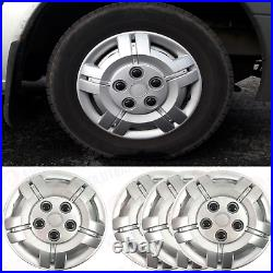 16 To Fit Fiat Ducato Wheel Covers Deep Dish Trims Hub Caps Domed Black Caps