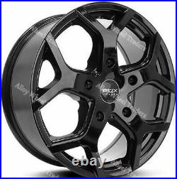 18 Black Viper 4 Alloy Wheels Fits Renault Trafic Traffic Peugeot Boxer 5x118