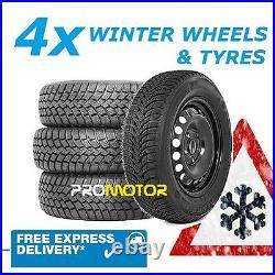 4 Steel Wheels 225/75r16c Winter Tyres Fits Fiat Ducato Motorhome (2006-2021)