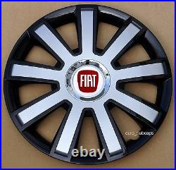 4x16 wheel trims, Hub Caps, Covers to fit Fiat Punto, Doblo MK3, Scudo(NOT DUCATO)