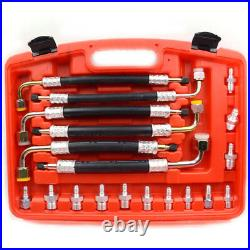 56 Pcs Universal Car Air Conditioning Leak Sealing Detector Repair Fitting Tool