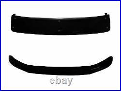 Black Acrylic Sun Visor Shield Bonnet Deflector Bundle Fits Fiat Ducato (06-14)