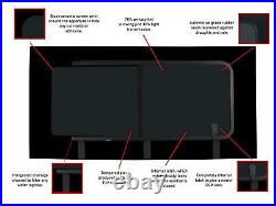 Dark Tint LH Opening Window Fitting Kit for Fiat Ducato (2006 on) L2, L3, L4