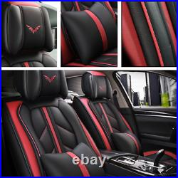 Deluxe Leather 5D Surround Car Seat Cover Full Set Fit For Interior Accessories