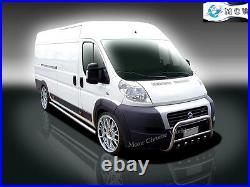 FIT FIAT DUCATO, RELAY, JUMPER, BOXER CHROME SIDE BARS, STEPS 70mm 2007+Up LONG