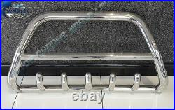 FITS FIAT DUCATO BULL BAR CHROME AXLE NUDGE A-BAR 60mm 1997-2006 S. STEEL OFFER