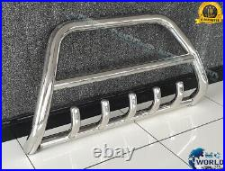 FITS FIAT DUCATO BULL BAR CHROME AXLE NUDGE A-BAR 60mm 2007-2014 S. STEEL OFFER