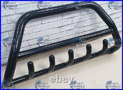 FITS TO FIAT DUCATO BLACK BULL BAR AXLE NUDGE PUSH GRILL A-BAR 60mm 1994-2006