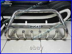 FITS TO FIAT DUCATO LOGO CHROME BULL BAR AXLE NUDGE A-BAR 2019+Onwards OFFER NEW