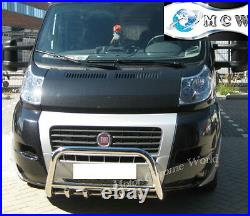 Fits Fiat Ducato Bull Bar Chrome Axle Nudge Push A-bar 2006-2013 Trade Offer