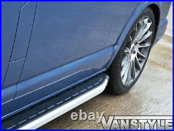 Fits Fiat Ducato Lwb 0714 Aluminium Side Step Clumber Style Running Board Bars