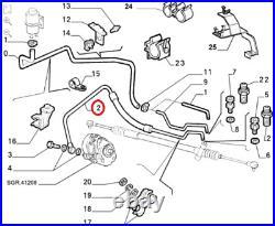 Fits Fiat Ducato Peugeot Boxer Citroen Relay Lower Power Steering Hose LHD 2.8D