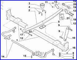 Fits Fiat Ducato Peugeot Boxer Citroen Relay Rear Anti Roll/Sway Bar 2006-On