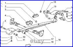 Fits Talbot Express FiatDucato PeugeotJ5 CitroenC25 Rear Leaf Springs Q10-Q14 X2