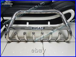 Fits To Fiat Ducato Bull Bar Chrome Axle Nudge A-bar 2006-2018 Ducato Logo New