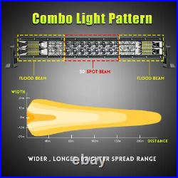 LED Work Light Bar Spot Flood Roof Lights Driving Lamp Off Road fits JEEP PICKUP