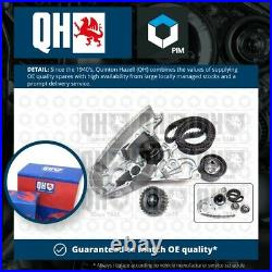 Timing Belt & Water Pump Kit fits FIAT DUCATO 244 2.3D 2002 on Set QH Quality