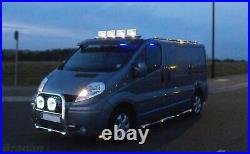 To Fit 16+ Fiat Talento Stainless Steel Front Flat Roof Light Bar + Spots + LEDs