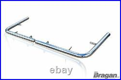 To Fit 2007 2014 Fiat Ducato LWB Stainless Steel Rear Corner Back Nudge Bar
