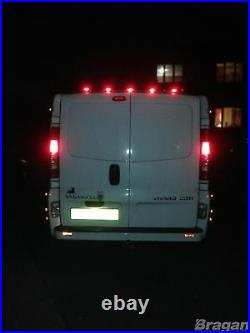 To Fit 2007 2014 Fiat Ducato Stainless Steel Rear Roof Light Bar + LEDs x5