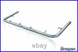 To Fit 2014+ Fiat Ducato LWB Chrome Stainless Steel Rear Corner Back Nudge Bar