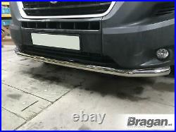 To Fit 2014+ Fiat Ducato Stainless Bumper Spoiler City Nudge Chin Bar