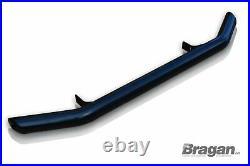 To Fit 2014+ Fiat Ducato Steel Bumper Nudge Chin City Front Spoiler Bar Black