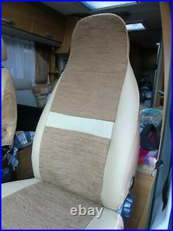 To Fit A Fiat Ducato 2002 Motorhome, Pair Of Seat Covers, Penelope Mh-493