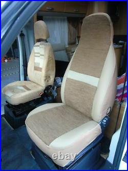 To Fit A Fiat Ducato 2009 Motorhome, Pair Of Seat Covers, Penelope Mh-493