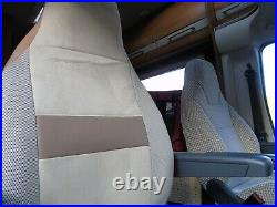 To Fit A Fiat Ducato Motorhome 2016, Tall Pilot Seat Covers, Imala ivory MH-1002