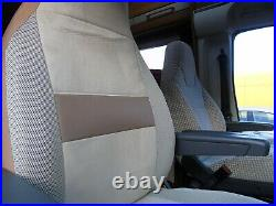 To Fit A Fiat Ducato Motorhome 2019, Tall Pilot Seat Covers, Imala ivory MH-1002