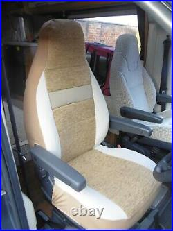 To Fit A Fiat Ducato Motorhome 2020, Tall Pilot Seat Covers, Shela Beige MH-1003
