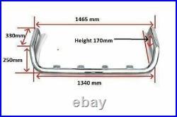 To Fit Fiat Ducato 2014+ BLACK Stainless Steel Van Roof Spot Light Bar + LEDs