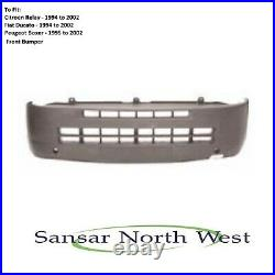 To Fit Fiat Ducato Front Bumper Black 1994 TO 2002 Models