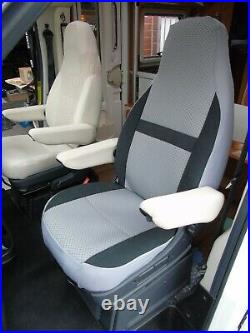 To Fit Fiat Ducato Motorhome, 2017 Model, Tall Pilot Seat Covers, Serena Mh-1006