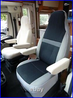To Fit Fiat Ducato Motorhome, 2019 Model, Tall Pilot Seat Covers, India Mh-1009