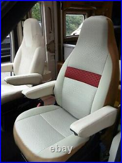 To Fit Fiat Ducato Motorhome, 2019 Model, Tall Pilot Seat Covers, Olivia Mh-1008