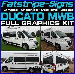To fit FIAT DUCATO L2 MWB GRAPHICS STICKERS STRIPES DECALS VAN CAMPER MOTORHOME
