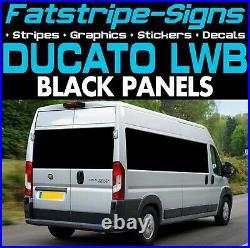 To fit FIAT DUCATO L3 LWB BLACK PANELS VINYL WINDOWS GRAPHICS MOTORHOME VAN