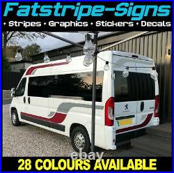 To fit FIAT DUCATO L3 LWB GRAPHICS STICKERS STRIPES DECALS VAN CAMPER MOTORHOME