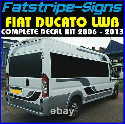 To fit FIAT DUCATO L3 LWB MOTORHOME GRAPHICS STICKERS DECALS STRIPES CAMPER VAN