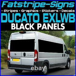 To fit FIAT DUCATO L4 EXLWB BLACK PANELS VINYL WINDOWS GRAPHICS MOTORHOME VAN