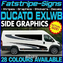 To fit FIAT DUCATO L4 EXLWB GRAPHICS STICKERS STRIPES DECALS DAY VAN MOTORHOME