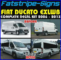 To fit FIAT DUCATO L4 EXLWB MOTORHOME GRAPHICS STICKERS DECAL STRIPES CAMPER VAN