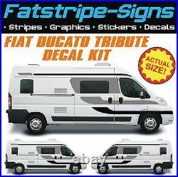 To fit FIAT DUCATO TRIBUTE MOTORHOME VINYL GRAPHICS STICKERS DECALS CAMPER VAN