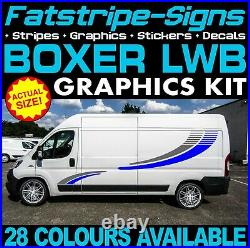 To fit PEUGEOT BOXER L3 LWB MOTORHOME GRAPHICS STICKERS STRIPES DAY VAN CAMPER